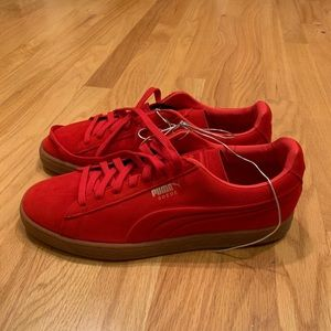 Puma Suede Classic Sneakers in Red NWOT